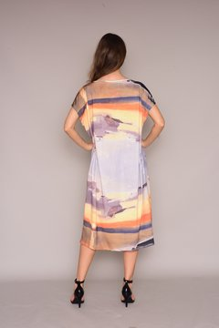 Vestido Kaftan V Jersey Sunset on internet