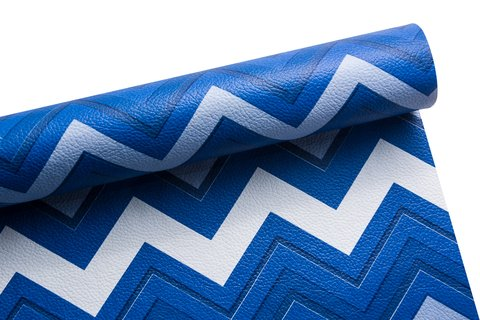 PVC Chevron Decor Azul