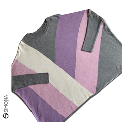 Sweater geometrico Gris en internet