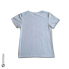 Remera rolling bordada Gris en internet