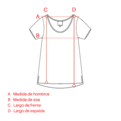Remera 9 lenguas Blanco - comprar online