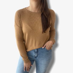 Sweater basico Camel