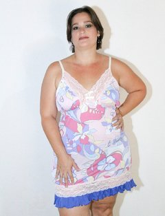 Camisola Colors Rosa Plus Size Sem bojo