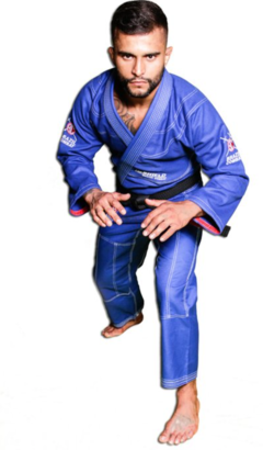 Imagem do KIMONO BRAZIL COMBAT THE SHIELD AZUL ROYAL SÉRIE LIMITADA