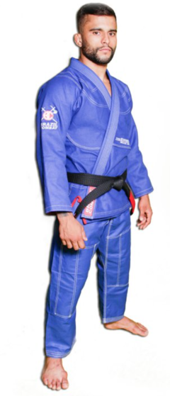 KIMONO BRAZIL COMBAT THE SHIELD AZUL ROYAL SÉRIE LIMITADA - DaudtSport