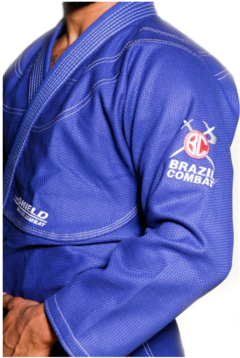 KIMONO BRAZIL COMBAT THE SHIELD AZUL ROYAL SÉRIE LIMITADA
