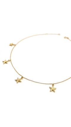 colar chocker estrela do mar