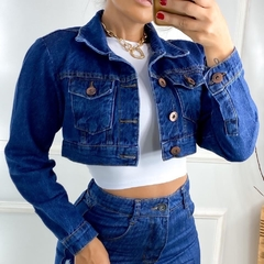 jaqueta jeans mini cropped