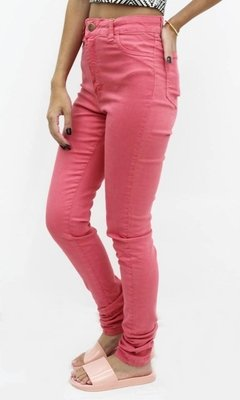 calça hot pants framboesa lady rock