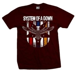 Remera SYSTEM OF A DOWN BORDEAUX