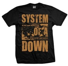 Remera SYSTEM OF A DOWN WE DON'T SPEAK