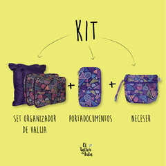 KIT FULL | SET ORGANIZADOR + NECESER + PORTADOCUMENTOS en internet
