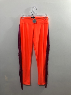 LEGGING ORANGE NEON FRANJA