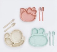Set plato y cubiertos Hello Kitty en internet