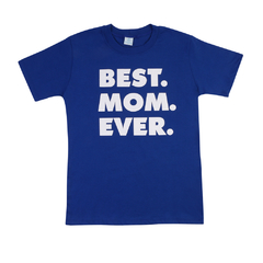 Camiseta BEST MOM EVER Azul Frente