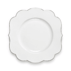 Plato Principal Blanco Liso Royal White Collection I 28 cm I - comprar online