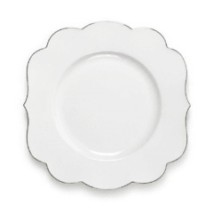 Plato Principal Blanco Liso Royal White Collection I 28 cm I
