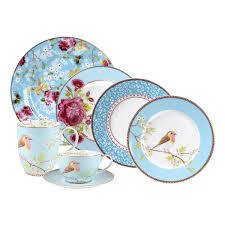 Plato Postre Azul Floral Collection I 21 cm I - Pick a Plate