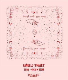 "Pañuelos ""Phases"" - Rosa - comprar online"