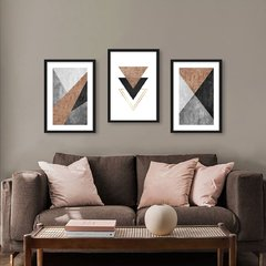 Kit de quadros Modern Triangle Ferrugem