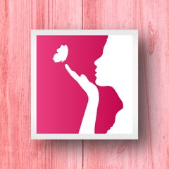 Quadro Mulher Pink