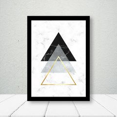 Kit de quadros Geometrico Triangulos Moderno II - Quadros decorativos | Pirilampo Decor