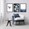 Kit de quadros Geometric Truly Fly Blue