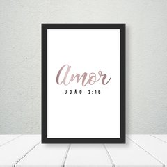 Kit de quadros Amor e Fé Clean - Quadros decorativos | Pirilampo Decor