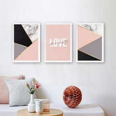 Kit de quadros trio Love Yourself - comprar online