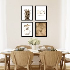 Kit de quadros Bronze Kitchen - comprar online