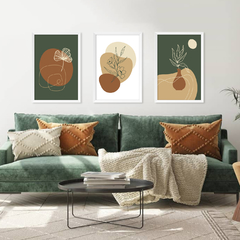 Kit de quadros Abstract Botanical - comprar online
