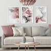 Kit de quadros Abstract Rose II