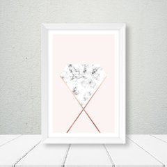 Kit de quadros Geometric Classic Rose II - Quadros decorativos | Pirilampo Decor