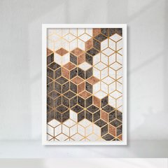 Kit de quadros Elegance Ocre II - Quadros decorativos | Pirilampo Decor
