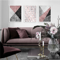 Kit de quadros Elegance Rose - Quadros decorativos | Pirilampo Decor