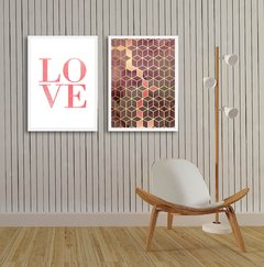 Kit de quadros Love Geometrico