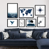 Kit de quadros Abstract Blue Life
