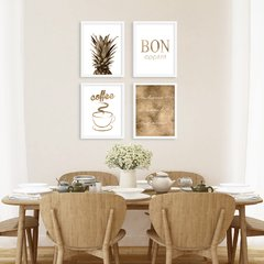 Kit de quadros Bronze Kitchen