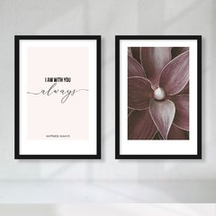 Kit de Quadros Happiness Always Duo - Quadros decorativos | Pirilampo Decor