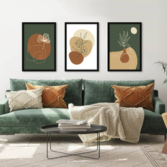 Kit de quadros Abstract Botanical