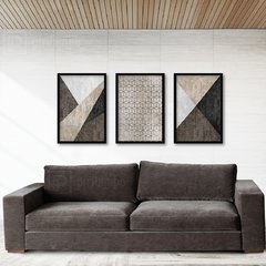 Kit de quadros Elegance Brown - Quadros decorativos | Pirilampo Decor