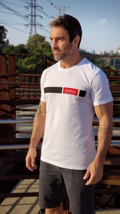 T-Shirt ROKN Reative White - Black Belt - ROKN