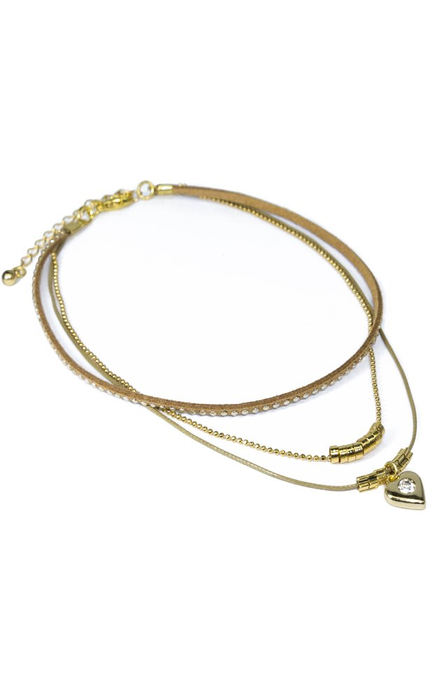 Colar Chocker Beck Ouro
