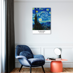 Quadro Decorativo Releitura Art Collection, Starry Night