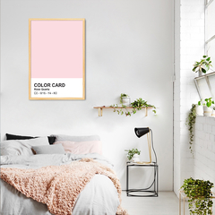Quadro Decorativo Cores, Rose Quartz