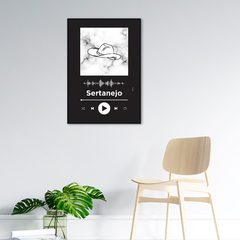Quadro Decorativo Gênero Musical, Sertanejo na internet
