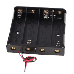 Portapilas 4 Baterias 18650 Holder Con Cable