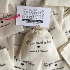 Bolsitas All you need is love x 50 unidades - comprar online