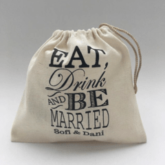 "Bolsitas ""Eat, drink and be married"" x 100 unidades - comprar online"