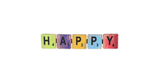PENDENTE LETRAS 'HAPPY' ROOTS JOY